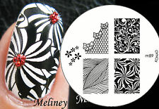 Konad Image Plate M89 for Stamping Nail Art Transfer Stencils
