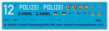 1/72 ep 2683 BK 117 Hummel 5 Elicottero polizia RENANIA SETTENTRIONALE-WESTFALIA