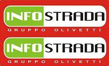 2-STÜCK Aufkleber für Ducati INFO STRADA Länge 44cm                        04-22