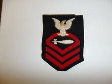 b3863s WW2 US Navy Chief Petty Officer Torpedoman's Mate Rate Blue IR34D