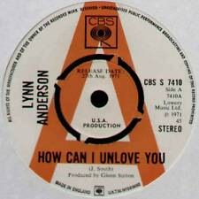 "[JOE SOUTH] LYNN ANDERSON ~ HOW CAN I UNLOVE YOU ~ 1971 UK ""PROMO"" 7"" SINGLE"