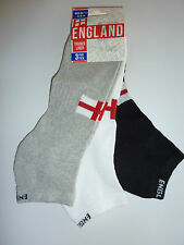 MENS England Pack of 3 Trainer Socks Size 7-11 NWT