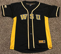 NCAA Wichita State Shockers Baseball Jersey Youth L Black Yellow A9