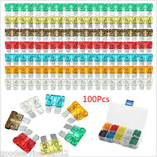 100In1 Colorful Car Medium Standard Fuses Box 5 7.5 10 15 20 25 30 Amp Universal (Fits: Ford Aerostar)