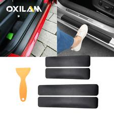 Auto Accessories 5D Glossy Carbon Fiber Vinyl Film Car Door Plate Sill Stickers