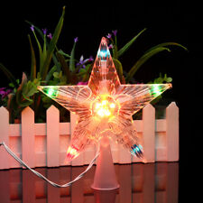Colorful Changing Christmas Tree Topper Star Light LED Lamp Indoor Outdoor Decor