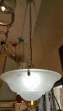 Art Deco 3 chain bowl pendant