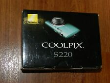 New in Box- Nikon COOLPIX S220 10.0MP Digital Camera - Aqua Green - 018208096985