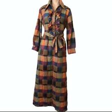 Wilmot Loungewear Vintage 1970's Plaid Quilted Hostess Dress
