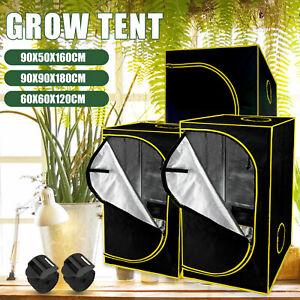 600D Growing Tent Kit Dark Plant Box Mylar Hydroponics Bud Indoor Green Room
