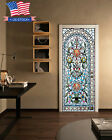 3d Self-adhesive Stained Glass Bedroom Door Murals Wall Stickers Home Decor