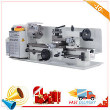 "7""x14""Mini Metal Lathe Machine 550W Variable Speed w/ Heat-Treated Lathe Bed"