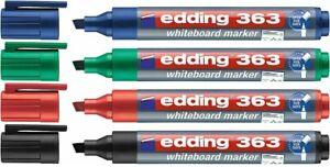 Edding 363 Whiteboard Markers Pens Chisel Tip 1-5mm   Choose Colour & Quantity