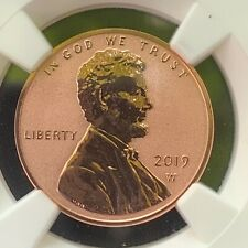 2019-w Lincoln Cent, First Day of Issue, Reverse Proof PF69RD