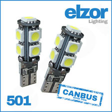T10 CAR LED ERROR FREE CANBUS 9 SMD XENON BRIGHT WHITE W5W 501 SIDELIGHT BULBS