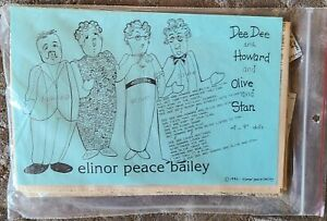 """Elinor Peace Bailey """"Dee Dee and Howard and Olive and Stan"""" Doll Pattern"""