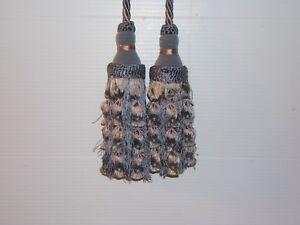 "Lee Jofa ""Belle Aire"" drapery tieback,adjustable cord, double tassel var colors"