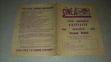CATALOGUE CINE 8-16MM LA LEGIA 1956 BELGIUM