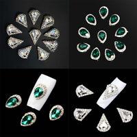 10pcs 3D Nail Art Crystal Rhinestone Glitter Alloy Nail Tips Charm Decoration
