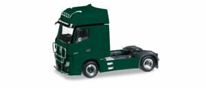 MERCEDES ACTROS Gigaspace Cabover Truck GREEN by HERPA 1/87 Scale plastic 301664