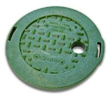"NDS 2 Pack, 6"", Round, Green, Irrigation Control Valve Cover"