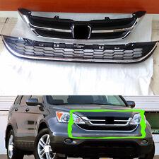 A SET For Honda CRV 2010-11 Car Front Bumper Cover Grid Upper Trim&Lower Grill D