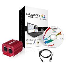 Kam Dmx Profesional LED DJ Escenario Luz muestra Interfaz USB + Software Mac PC + aplicación de teléfono