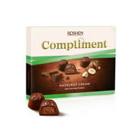 "Ukrainian Sweets Box ROSHEN Milk Chocolate Candy ""COMPLIMENT"" Hazelnut Cream"