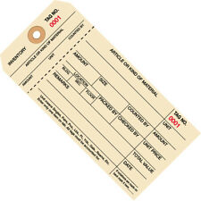 6 14 X 3 18 7000 7999 Inventory Hang Tags Stub Style 8 1000case