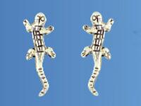 925 ECHT SILBER *** Ohrstecker Echse 15 mm Eidechse Gekko Gecko Salamander