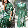New Ted Baker London Jhenni Satin Midi Dress Green 3,4,5