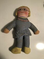 Vintage Mrs Beasley Cloth Doll, Yarn Hair !