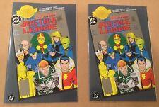 Justice League #1 x 2 Lot! DC Millennium Chrome Variant! Rare HTF! 12 Pictures!