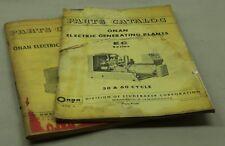 Vintage ONAN EC & HQ Parts Catalogs 928-4 921-7