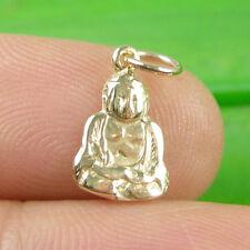 Genuine 375 9ct 9k Yellow Gold Small Happy Buddha Flat Charm - C2168