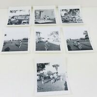 Lot of 7 Original Vintage 1960s B&W Photos Social History Family Garden
