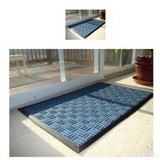 Doormat Water Retainer Mat Clean Pet Rubber Tray Indoor Outdoor Blue Home Room