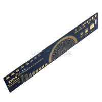 Black 20cm Multifunctional PCB Ruler Measuring Tool Angle Measure Meter for DIY