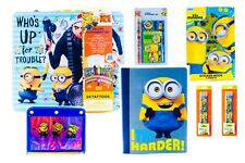 Despicable Me Minions Bundle Pack Stationery Stickers Pencils Notebook And More