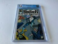 PUNISHER WAR JOURNAL 1 CGC 9.8 WHITE PAGES JIM LEE CARL POTTS MARVEL COMICS 1988