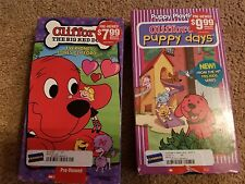 2 Clifford the big red dog  VHS video tapes Puppy Days Everyone loves Clifford