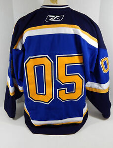 2005 St. Louis Blues #5 Game Issued Blue Jersey DP12085