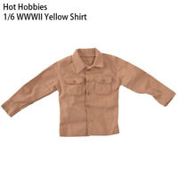 1/6 Clothes World War II Yellow Shirt Soldier Clothing Fit 12'' Body Figure Toys