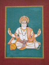Hanuman God Painting Decorative Miniature Wall Hanging Art Work Indian Hindusum
