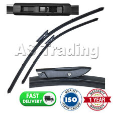 "DIRECT FIT FRONT WIPER BLADES PAIR 24"" + 16"" FOR RENAULT CLIO III 2005-2012"