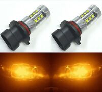 LED 80W 9006XS HB4A Orange Amber Two Bulbs Head Light Low Beam Replacement