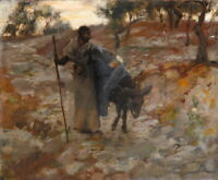 John Singer Sargent The Flight Into Egypt Giclee Canvas Print Paintings Poster