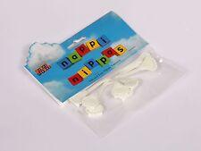 Nappi Nippa Nappy Fastener - White x 3