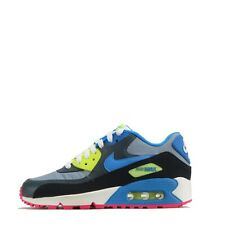 Nike Air Max 90 Junior Youth Trainers Shoes Grey/ Blue