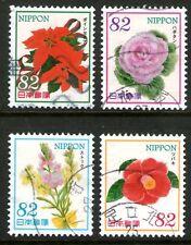 Japan 2014 82y Flowers Series 2 set of 4 Fine Used
